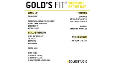 JUNE 1 - GOLD'S FIT by Gold's Gym Anywhere
