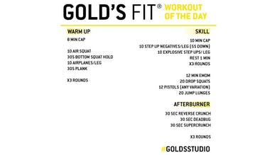 MAY 19 - GOLD'S FIT by Gold's Gym Anywhere
