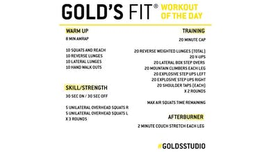 April 2 - GOLD'S FIT by Gold's Gym Anywhere