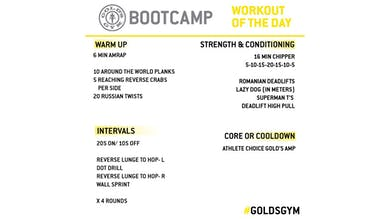 April 23 - BOOTCAMP by Gold's Gym Anywhere