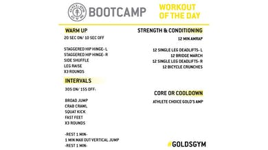 April 17 - BOOTCAMP by Gold's Gym Anywhere