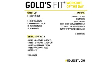 March 31 - GOLD'S FIT by Gold's Gym Anywhere