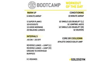 March 23 - Bootcamp by Gold's Gym Anywhere
