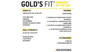 JUNE 15 - GOLD'S FIT by Gold's Gym Anywhere