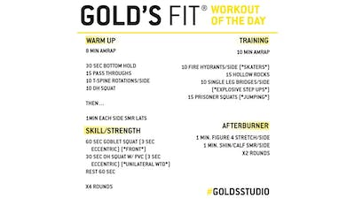 JUNE 3 - GOLD'S FIT by Gold's Gym Anywhere