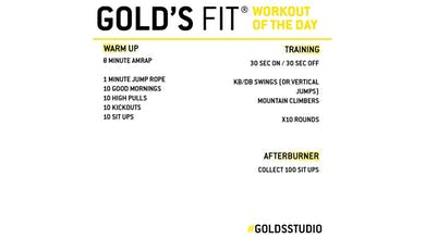 April 20 - GOLD'S FIT by Gold's Gym Anywhere