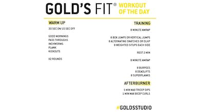 April 8 - GOLD'S FIT by Gold's Gym Anywhere