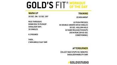 April 9 - GOLD'S FIT by Gold's Gym Anywhere