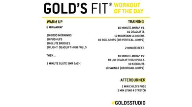 May 1 - GOLD'S FIT by Gold's Gym Anywhere