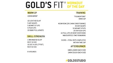JUNE 10 - GOLD'S FIT by Gold's Gym Anywhere