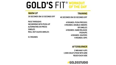 April 14 - GOLD'S FIT by Gold's Gym Anywhere