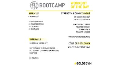 April 29 - BOOTCAMP by Gold's Gym Anywhere