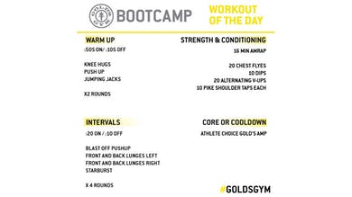 April 14 - BOOTCAMP by Gold's Gym Anywhere