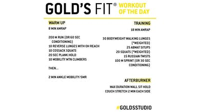 April 15 - GOLD'S FIT by Gold's Gym Anywhere