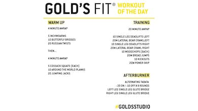 March 30 - GOLD'S FIT by Gold's Gym Anywhere
