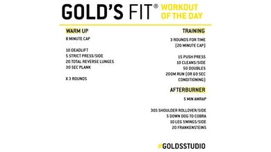 MAY 11 - GOLD'S FIT by Gold's Gym Anywhere