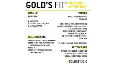 JUNE 2 - GOLD'S FIT by Gold's Gym Anywhere