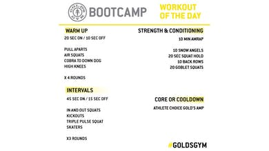 April 30 - BOOTCAMP by Gold's Gym Anywhere