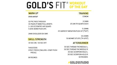 JUNE 8 - GOLD'S FIT by Gold's Gym Anywhere