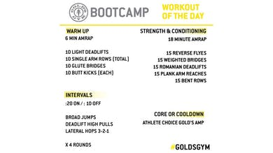 March 30 - BOOTCAMP by Gold's Gym Anywhere