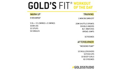 MAY 22 - GOLD'S FIT by Gold's Gym Anywhere