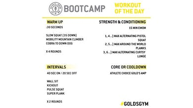 April 15 - BOOTCAMP by Gold's Gym Anywhere