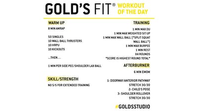 JUNE 19 - GOLD'S FIT by Gold's Gym Anywhere