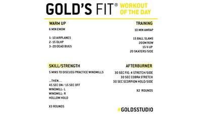JUNE 16 - GOLD'S FIT by Gold's Gym Anywhere