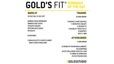 April 28 - GOLD'S FIT by Gold's Gym Anywhere