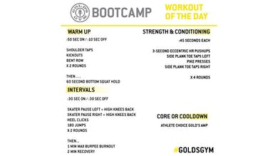April 9 - BOOTCAMP by Gold's Gym Anywhere