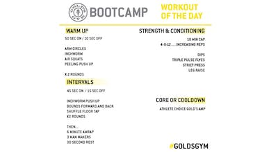 MAY 6 BOOTCAMP by Gold's Gym Anywhere