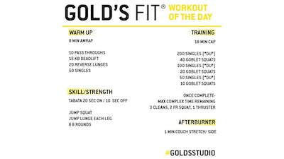 MAY 28 - GOLD'S FIT by Gold's Gym Anywhere
