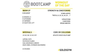 April 16 -  BOOTCAMP by Gold's Gym Anywhere