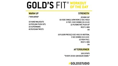 MAY 18 - GOLD'S FIT by Gold's Gym Anywhere