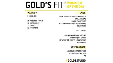 MAY 13 - GOLD'S FIT by Gold's Gym Anywhere