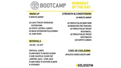 April 7 - BOOTCAMP by Gold's Gym Anywhere