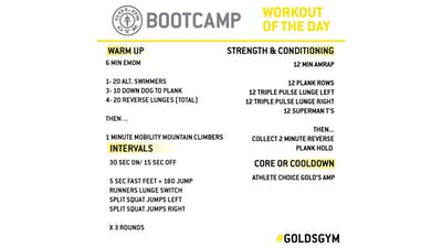 May 4 - BOOTCAMP by Gold's Gym Anywhere
