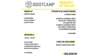 April 13 - BOOTCAMP by Gold's Gym Anywhere