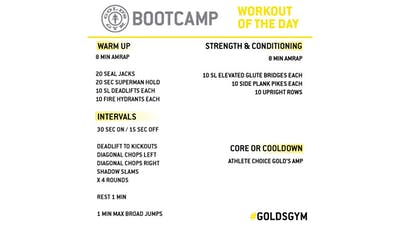 MAY 7 - BOOTCAMP by Gold's Gym Anywhere