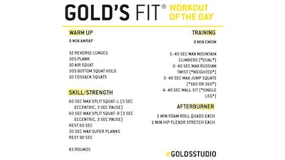JUNE 17 - GOLD'S FIT by Gold's Gym Anywhere