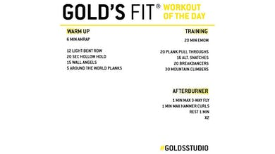 MAY 12 - GOLD'S FIT by Gold's Gym Anywhere