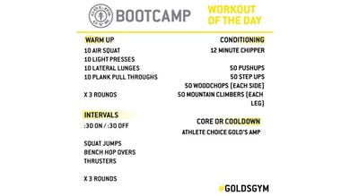 March 24 - BOOTCAMP by Gold's Gym Anywhere