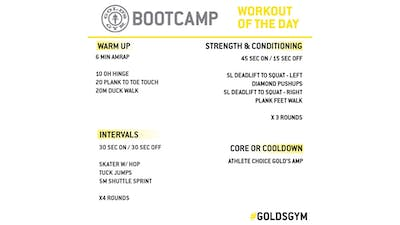 MAY 5 - BOOTCAMP by Gold's Gym Anywhere