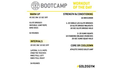 May 1 - BOOTCAMP by Gold's Gym Anywhere