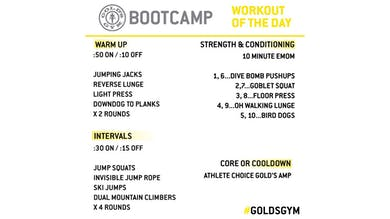 March 31 - BOOTCAMP by Gold's Gym Anywhere