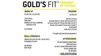 JUNE 18 - GOLD'S FIT by Gold's Gym Anywhere