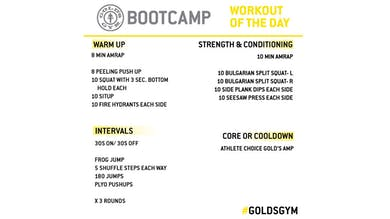 April 24 - BOOTCAMP by Gold's Gym Anywhere