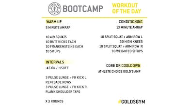 March 25 - BOOTCAMP by Gold's Gym Anywhere