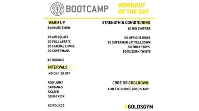 April 3 - BOOTCAMP by Gold's Gym Anywhere