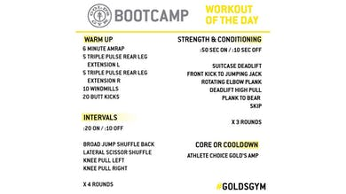 April 8 - BOOTCAMP by Gold's Gym Anywhere